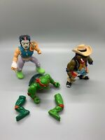 Teenage Mutant Ninja Turtles - PARTS for Repair-Raphael, Casey Jones, Cowboy Don
