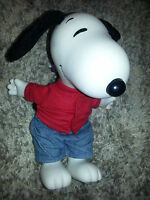 "SNOOPY DOLL 1968 Peanuts 10""  SCHULZ ANTIQUE FIGURINE Bean Bag RAG DOLL Vintage"
