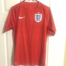 Nike Mens Small England Soccer Three Lions Red Jersey