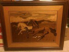 "Hudson River Wood ""Mustangs"" Hand Made"