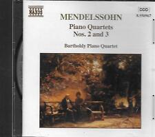 CD album: Mendelssohn: Piano Quartets N°2 & 3. Bartholdy Piano Quart. Naxos . N
