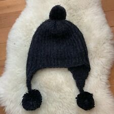 0c306a78fa755 REI Gray Cable Knit Brim Beanie Cap Hat