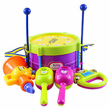 5Pcs Baby Boy Girl Drum Musical Instruments Drum Set Children Toys Us