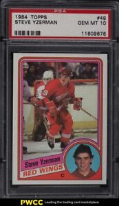 1984 Topps Hockey Steve Yzerman ROOKIE RC #49 PSA 10 GEM MINT