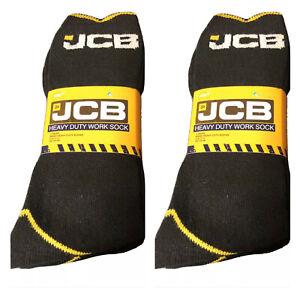JCB - MEN'S BLACK EVERYDAY WORK SOCKS  ** 6 PAIRS ** SIZE UK 9-12 • EU 43-46