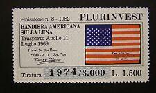 1982  Emissioni Plurinvest  Bandiera Americana  sulla Luna  1500 lire  MNh**