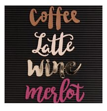 Home by Dcwv Letterboard Words Coffee & Wine 4 pcs American Crafts Merlot Latte