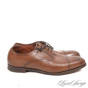 #1 MENSWEAR Ralph Lauren Purple Label England Edward Green Captoe Shoes 8 8.5 NR
