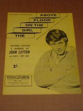 """John Leyton """"la chica en el piso de arriba"""" Joe Meek Partituras Rgm/"""