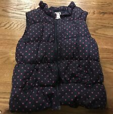 Gymboree Puffer Vest Blue polka dot Size 7-8