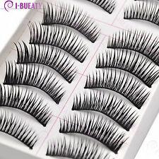10 Pairs Natural Makeup False Eyelashes Handmade Black Long Thick Eye Lashes 031