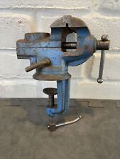 Vintage small (60mm jaw) swivel bench vice with anvil jewellers watchmakers etc