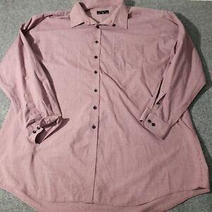 PARAMOUNT Men's 3XLarge Long Sleeve Striped Shirt Size 48 Collared 3XL Shirt