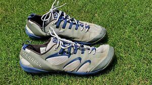 MERRELL Mens 12 Barefoot True Glove Running Shoes Smoke Gray Twilight Sneakers