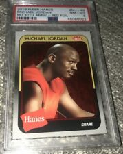🏀2019 Fleer Hanes *RED-FOIL* Michael Jordan Bulls #MJ-48 Insert PSA 8 NM/MT💥