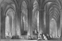 France GOTHIC TOURS CATHEDRAL CHURCH SAINT GATIEN ~ Old 1865 Art Print Engraving