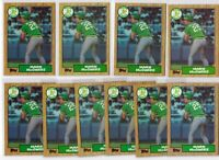 Mark McGwire - 1987 Topps #366 Rookie Lot - 10ct Card Lot