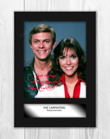 The Carpenters (1) A4 signed mounted photograph poster. Choice of frame