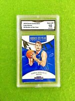 LUKA DONCIC ROOKIE CARD GRADED GEM MINT 10 GMA RC  2018-19 Panini Contenders RoY
