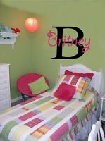 Monogram Personalized Name Sticker Vinyl Wall Decal