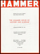 HAMMER House of Mystery and Suspense__Original 1983 Trade AD horror promo_poster
