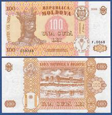 MOLDAWIEN / MOLDOVA 100 Lei 2008 UNC  P. 15 b