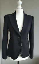 Emporio Armani womens black fitted suit jacket blazer IT 42 Uk 10 NEW BNWT  £335
