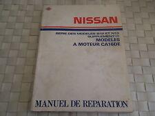 MANUEL DE REPARATION NISSAN A MOTEUR CA16DE SERIE DES MODELES B12 ET N13