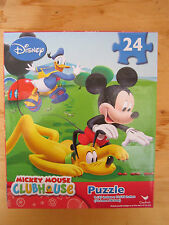 "DISNEY MICKEY MOUSE CLUBHOUSE PUZZLE (24 PIECES) 9"" x 10"" BRAND NEW!"
