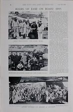 1896 BOER WAR NAVY ON BOARD A CRUISER MARINES STANDING EASY XMAS DAY ROUTINE