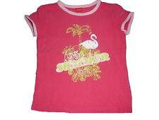 s. Oliver tolles T-Shirt Gr. 140 rosa mit Flamingo Motiv !!