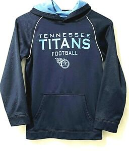 Tennessee Titans Boys NFL Football Youth Blue Size L 12/14 Hooded Sweat Shirt