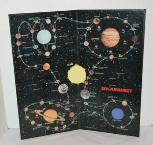 Vintage 1986 Solarquest Board Game Replacement BOARD ONLY