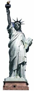 STATUE OF LIBERTY CARDBOARD CUTOUT - 1.91m 7ft Party Decoration Stand Up