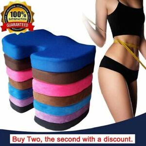 Memory Foam Seat Cushion Back Pain Relief Orthopaedic Pillow Office Chair Coccyx