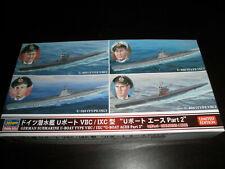 1/700 German Submarines U-Boats U-203,404,505 & 515 4 kits by Hasegawa O