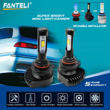9005 HB3 9145 9140 H10 2500W 375000LM CSP LED Fog Lamp Kit 6000K White Headlight