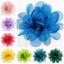 "30PCS 5CM 2"" Chic Crochet Chiffon Flowers For Headband Fabric Flowers For Hair"