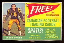 1963 POST CFL FOOTBALL Advertising Cereal Box Card Oscar Kruger EDMONTON ESKIMOS