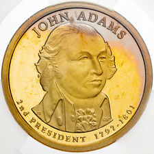 2007-S PRESIDENTIAL DOLLAR JOHN ADAMS ICG PR69 DCAM FIRST DAY ISSUE TONED (DR)