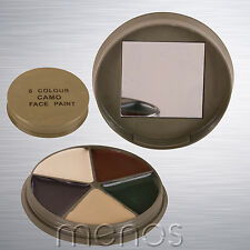 Face Paint - 5 Colour Multicam MTP Military Army Camo Cream with Mirror