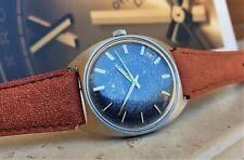 Zenith Auto Sport Rare Dial Blu GR 559801 Cal 2562PC Watch Date Vintage 1970's