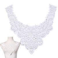 diy embroidered lace floral neckline neck collar trim clothes sewing applique RA
