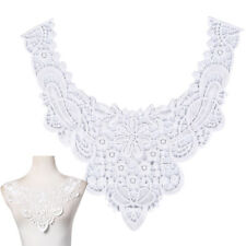 diy embroidered lace floral neckline neck collar trim clothes sewing appli LT