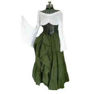 Women Medieval Renaissance Dress Costume Vintage Cosplay Victorian Dress Clothes