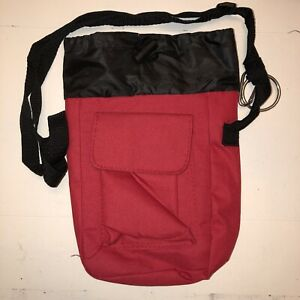 AARP Small Red Canvas Insulated Lunch Bag Mini Thermal Portable Cooler