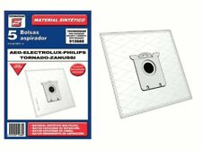 Bolsa sintetica aspirador AEG Electrolux Philips Taurus Zanussi 5 UNIDADES 91568