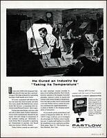 1958 Newspaper Office Howard Partlow Temperature Controls retro art print ad L40