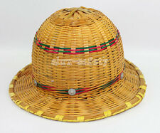 Cool Hand Knitted Bamboo Construction Hard Hat Breathable Safety Helmet