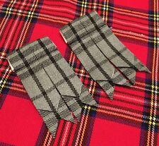 New Kilt Hose Flashes Hamilton Grey Tartan/Kilt Sock Flashes/kilt Flashes